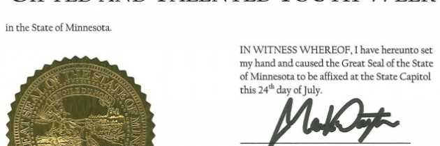 Nov 1 – 7 | State of Minnesota Recognizes Gifted & Talented Youth Week